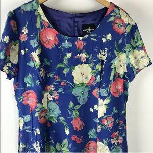 Vintage 90's Floral Tropical Dress Muumuu L XL